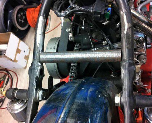 Harley rear fender by Greaser Garage