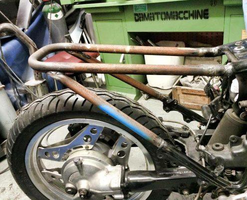 Honda frame by Greaser Garage