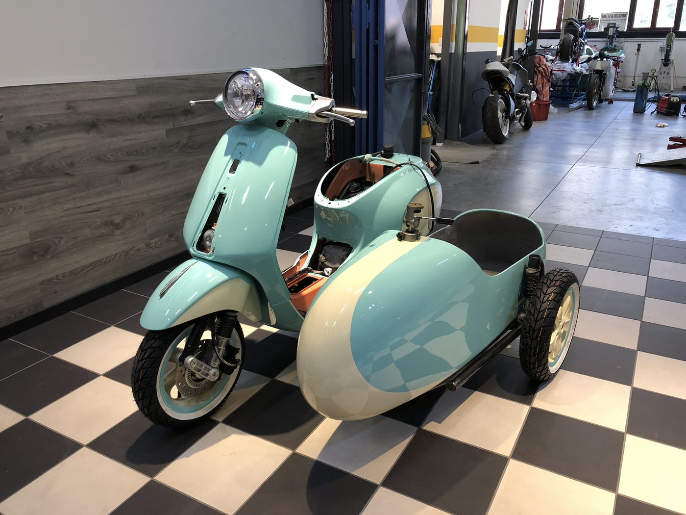 Vespa Cinema by Greaser Garage